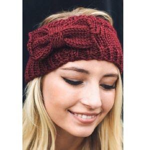 Warm headband w/bow